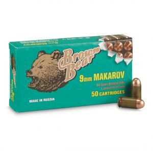 Brown Bear, 9x18mm Makarov, FMJ, 94 Grain, 500 Rounds