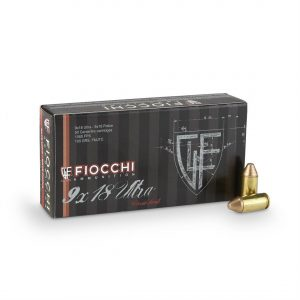 Fiocchi Specialty, 9x18mm Ultra (Police), FMJ-TC, 100 Grain, 500 Rounds