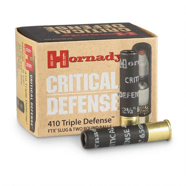 "Hornady Triple Defense, .410 Bore, 2 1/2"", FTX Slug, 500 Rounds"