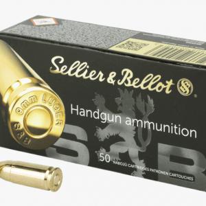 SELLIER & BELLOT 9MM LUGER AMMUNITION 500 ROUNDS BOX