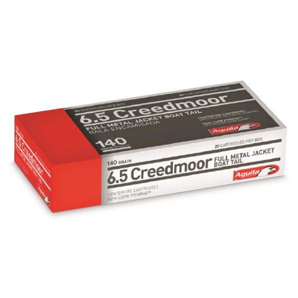 Aguila, 6.5mm Creedmoor, FMJBT, 140 Grain, 500 Rounds