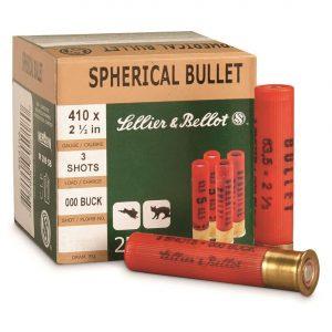 """Sellier & Bellot, .410 Gauge, 2 1/2"""", 000 Buckshot, 3 Pellets, 500 Rounds"""