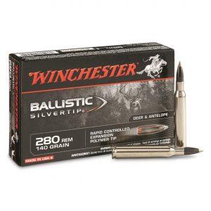 Winchester Supreme Ballistic Silvertip, .280 Remington, BST, 140 Grain, 500 Rounds