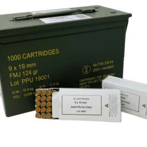 PRVI PPU 9X19MM NATO 124 GRAIN FULL METAL JACKET CAN 1000 ROUNDS