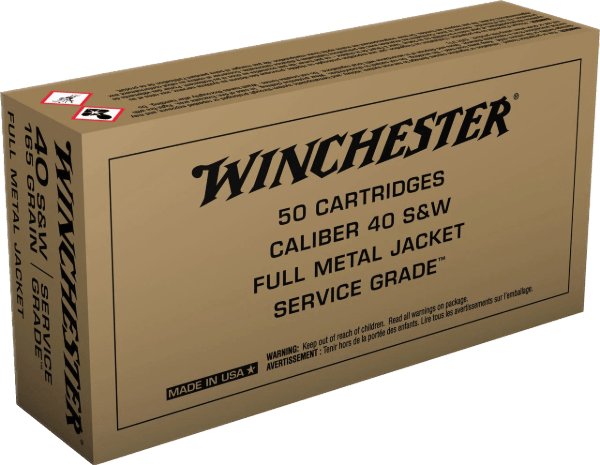 WINCHESTER 40 S&W AMMUNITION BRASS 500 ROUNDS
