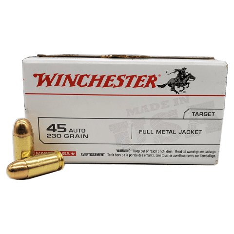 WINCHESTER 45 AUTO AMMUNITION BRASS 500 ROUNDS