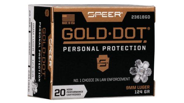 SPEER GOLD-DOT-9MM-LUGER 124 500Rds