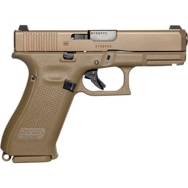 Glock G19X Gen5 NS 9mm Compact 17-Round Pistol